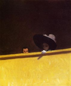 Box Seats at the Theater, the Gentleman and the Lady.          Felix Vallotton.