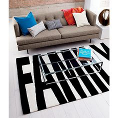 family black and white rug in rugs, pillows | CB2 - $249 for 8x10