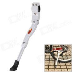 HongSen HS-001 Aluminum Alloy Bicycle Foot Support Post Racks - Black   White Price: $13.70