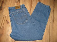 Levis 540 Mens Levi Blue Jeans 38X31 Relaxed Fit Orange Tab  #Levis #RelaxedFitStraightLeg