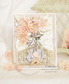 Crafting Life's Pieces: Bliss, Joy, Wish - Sarah Kay card