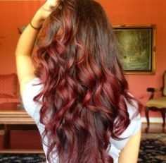 Curls and ombre hair