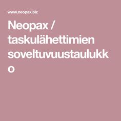 Neopax / taskulähettimien soveltuvuustaulukko