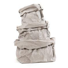 PAPER PLANE - Washable Paper Bags - Grey
