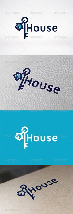 House Key Logo Design Template Vector #logotype Download it here:  http://graphicriver.net/item/house-key-logo-template/6293429?s_rank=360?ref=nesto