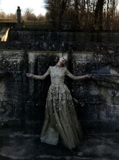 Issue: VOGUE Italia March 2012 Title: Valentino Couture s pring s ummer 2012 Photography: Deborah Turbeville Deborah Turbeville Model: Marie Piovesan