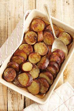Oondgebakte soetpatats, Dis die lui manier van patats maak - terwyl jy agteroorsit en ontspan.