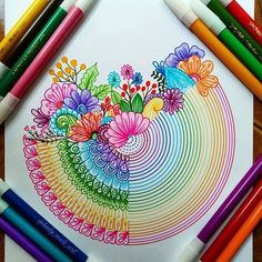 35 Best Ideas For Beautiful Art Drawings Awesome Artworks Doodle Art Drawing, Zentangle Drawings, Mandala Drawing, Art Drawings Sketches, Zentangles, Zentangle Patterns, Painting & Drawing, Cool Art Drawings, Drawing Flowers