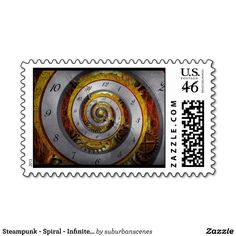 Steampunk - Spiral - Infinite time Postage Stamps