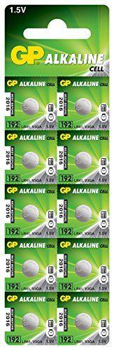 From 0.99:Gp Batteries Alkaline Button 192 Batteries (pack Of 10) | Shopods.com
