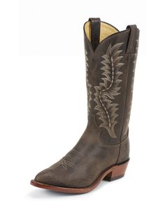 Tony Lama - Men's Chocolate Saigets Worn Goat Boot Country Outfitter.com 8 1/2 D