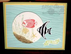 Rachel's Stamping Place: Time to Shake it Up! Blog Hop Seaside Shore is a great set to make fun shaker cards. Head to the beach and collect your sand to make this great interactive card.