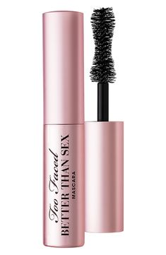 Too Faced Better Than Sex Mini Mascara - Who doesn't want to bring their favorite mascara everywhere they go? Too Faced Better Than Sex mini mascara may be travel-sized but it still brings your lashes to unbelievable lengths. Best Mascara, Mascara Tips, Drugstore Mascara, Makeup Tips, Beauty Makeup, Eye Makeup, Sephora Makeup, Macy's Beauty, Beauty Tips