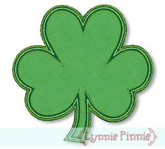 Embroidery Designs - Free Applique Clover/Shamrock 4x4 - Welcome to Lynnie Pinnie.com! Instant download and free applique machine embroidery designs in PES, HUS, JEF, DST, EXP, VIP, XXX AND ART formats.