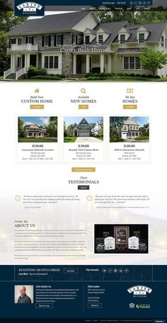 Beautiful Maryland   Carter Inc Builders Showcasing This Fully Responsive Real Estate Website  Design. This Site