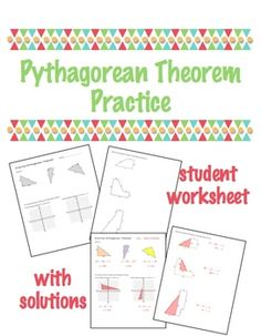 Pythagorean Theorem Practice $1