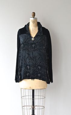 Spirit House blouse 1920s silk velvet blouse by DearGolden