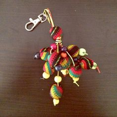 Inka Fabric Handmade Keychain This keychains are handmade by poor single mothers in Perù .... I help them selling their art.  Made with Inka Fabric this Keychain is a beautiful piece of artisan handmade art Accessories Key & Card Holders