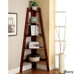 Kiki 5-tier Corner Ladder Display Bookcase | Overstock.com Good use of space in a dead corner