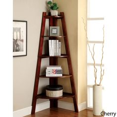 Kiki 5-tier Corner Ladder Display Bookcase | Overstock.com Good use of space in a dead corner