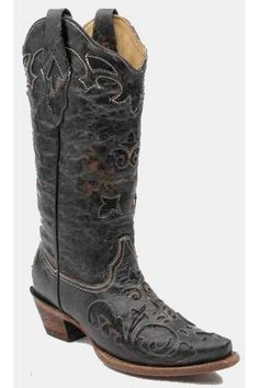 Corral Boots Corral Vintage Lizard Inlay Boot With Snip Toe Urban Western Wear