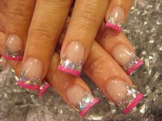 love the silver and pink tips