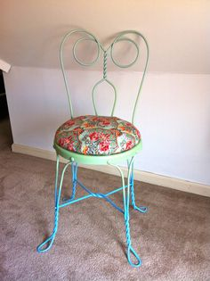 Vintage Wrought Iron Ice Cream Parlor Chair by FreshFromForgotten, $85.00