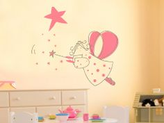 Girls wall decal, dancing fairy wall decal, for her, teen wall decal
