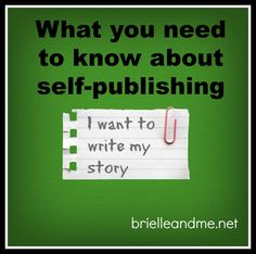What you might want to know about self-publishing. http://brielleandme.net/can-special-needs-parenting-author-self-publishing/