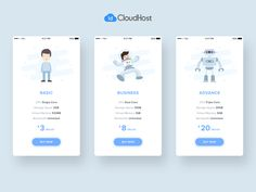 Pricing Card designed by Muhammad Fauzi. Connect with them on Dribbble; App Ui Design, Mobile App Design, Web Design, Mobile Ui, Virtual Memory, Pricing Table, User Guide, Interactive Design, Graphic Design Inspiration