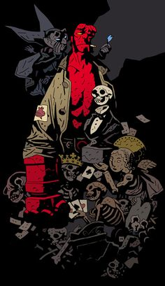 Mike Mignola's Hellboy. One of my all-time favorite comics, due just as much to the beautiful inking and attention to detail as the strong emphasis on folklore and myths (the Baba Yaga, Irish fairies, etc.), not to mention the smart and believable writing. Whether you are a comics aficionado or not, Hellboy is certain to entertain.