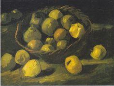 Van Gogh - Stillleben mit Apfelkorb, 1885