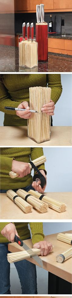 Easy way to make holder for knives