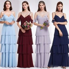 def474d0a9a9 Burgundy Bridesmaid Dresses Ever Pretty Off Shoulder Ruffles Elegant Dress  Women For Wedding Party Gowns Vestidos