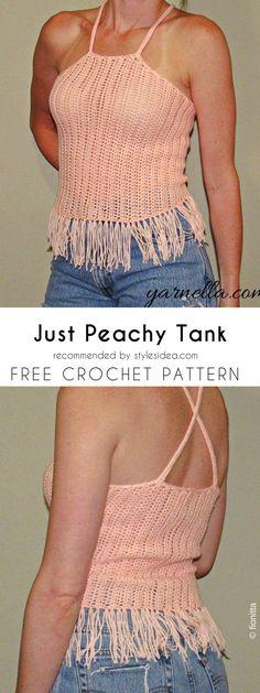 Just Peachy Tank Free Crochet Pattern | Crafts Ideas