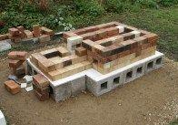 Very detailed photos of kiln construction