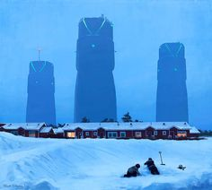 Peinture futuriste de l'artiste suédois Simon Stålenhag.
