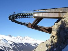 The controversial Glacier Skywalk opens in the Canadian Rockies - 2014 - Clark Malcolm