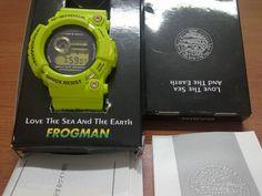Terjual Jual Casio G-Shock Frogman alias kermit Casio Frogman, Casio G Shock Frogman, G Shock Watches, Kermit, Gw, Jewelry, Casio Watch, Clocks, Wristwatches