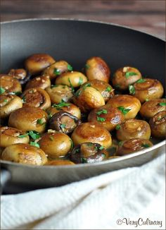 ~Sauteed Mushrooms with Garlic and Lemon Pan Sauce~ Serves 4 Prep time: 10 minutes Cook time: 15 minutes  **Ingredients** 3 tablespoons unsalted butter•  3 tablespoons extra virgin olive oil•  8 ounces button mushrooms, brushed clean•  8 ounces cremini mushrooms, brushed clean•  salt and pepper•  3 garlic cloves, minced• 1/2 cup white wine•  2 tablespoons lemon juice•  3 tablespoons chopped fresh parsley.  **Directions** Warm olive oil and butter over high heat in a large sauté pan. Add in…