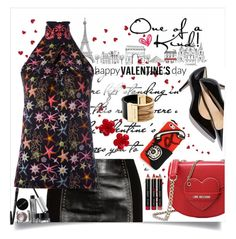 """""""One of a Kind"""" by juliehooper ❤ liked on Polyvore featuring Versace, Love Moschino, Tory Burch, Bobbi Brown Cosmetics, Chanel, Michael Kors, women's clothing, women, female and woman"""