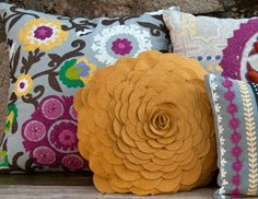 pretty pillows for spring