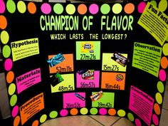 grade science fair project - Champion of Flavor fair pro. - - grade science fair project – Champion of Flavor fair pro… Science Projekt der Klasse der Wissenschaftsmesse – Champion of Flavor faire Projekte Science Fair Topics, Science Fair Board, Elementary Science Fair Projects, Science Fair Experiments, Science Fair Projects Boards, Stem Projects, Science For Kids, Science Activities, School Projects