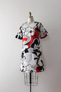 vintage 1960s dress // 60s floral print dress by TrunkofDresses