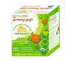 Happy Baby Happy Times Yummy Yogis Organic Caramel Yogurt and Apple Bits - Case of 30 Pouches - 1.1 oz   ecolifestylekids.com