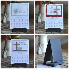 Taylored Expressions Be Still Calendar.  Check out the new Display Easel die set for calendars and so much more!!  It's sneak peek with all new products available on Nov. 2.