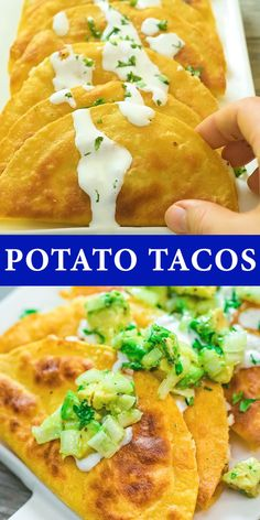 These delicious and crispy Potato Tacos are crunchy on the outside and soft on the inside. They are vegetarian and easy to make at home. FOLLOW Cooktoria for more deliciousness! #potatoes #tacos #vegetarian #lunch #dinner #tortillas #recipeoftheday