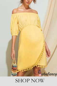 Maternity Mini Dresses, Maternity Wear, Off The Shoulder, Spring Summer, Casual, How To Wear, Clothes, Collection, Women