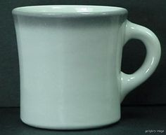 China Coffee Mug Shenango Restaurant Ware Gray Airbrush