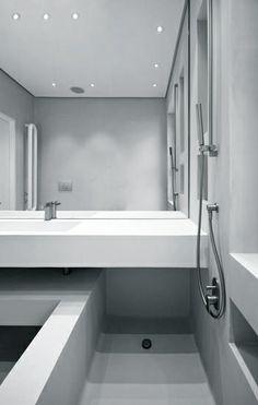 Badewanne und Dusche zusammen